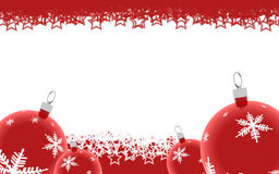 Red Christmas background Stock Images