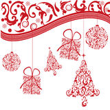 Red christmas background. For holiday season, christmas and others Royalty Free Stock Photography