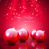 Red Christmas background with baubles Royalty Free Stock Images