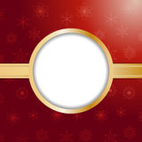Red christmas background and border Royalty Free Stock Image