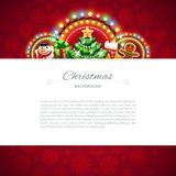 Red Christmas Background with Copy Space Stock Photo