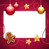 Red Christmas Background with Copy Space Royalty Free Stock Images
