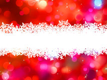 Red Christmas background with copyspace. EPS 8 Stock Images