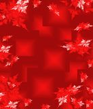 Red Christmas background in elegant style. Royalty Free Stock Image