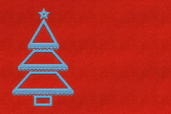 Red Christmas background with embroidery Royalty Free Stock Image