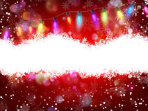 Red Christmas background. EPS 10. Vector file included Royalty Free Stock Photos