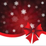 Red Christmas background with gift bow Royalty Free Stock Image