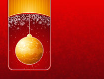 Red  christmas background with golden balls Stock Photos