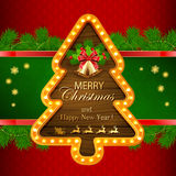 Red Christmas background with golden bells Royalty Free Stock Photos