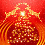 Red christmas background Stock Photography
