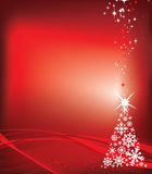 Red christmas background illustration Stock Photos