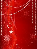 Red Christmas background with ornaments Royalty Free Stock Photos
