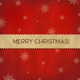 Red Christmas Background With Paper Divider Royalty Free Stock Image
