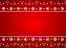 Red christmas background. With place for your text vector illustration
