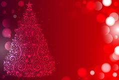 Red Christmas background - ready for your text Royalty Free Stock Photo