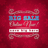 Red christmas background and sale offer Stock Photo