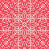 Red christmas background with seamless pattern. Ideal for printi Royalty Free Stock Images