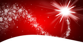 Red christmas background. With shooting star stock illustration