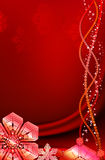 Red christmas background with snowflakes. Royalty Free Stock Photos