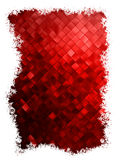 Red christmas background with snowflakes. EPS 10 Stock Photography