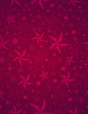 Red christmas background with snowflakes and stars royalty free stock images