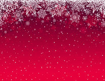 Red christmas background with snowflakes and stars, vector stock images
