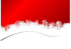 Red Christmas background snowflakes twisted. Vector illustration. Royalty Free Stock Photo