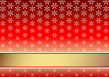 Red christmas background with snowflakes (vector) Royalty Free Stock Photography