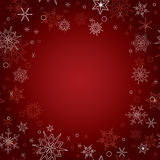 Red christmas vector background with snowflakes Royalty Free Stock Photography
