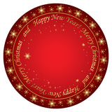 Red christmas background with snowflakes - vector Royalty Free Stock Photography