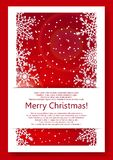 Red Christmas background with snowflakes. Vector eps10 Royalty Free Stock Photography