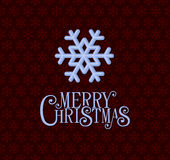 Red Christmas Background with Snowflakes. Vector Royalty Free Stock Photo