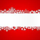 Red Christmas background with snowflakes. Vector Illustration Stock Photo