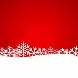 Red Christmas background with snowflakes. Vector Illustration Stock Photos