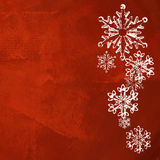 Red Christmas background with snowflakes Royalty Free Stock Photography