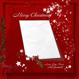 Red Christmas background with space for letters to Santa Royalty Free Stock Image