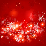 Red Christmas background. With space for text Stock Image