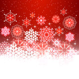 Red Christmas background with space for text. Design for cards, invitations, sites, etc Stock Photography