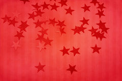Red christmas background with star Stock Image