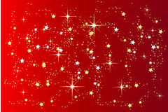 Red christmas background with stars Royalty Free Stock Photos