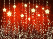Red christmas background with stars Stock Illustration