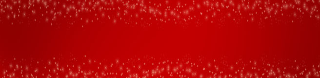 Red christmas background with stars Stock Images