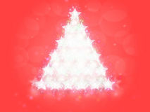 Red Christmas background stars tree Stock Photography