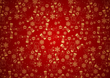 Red Christmas Background Texture Stock Photo