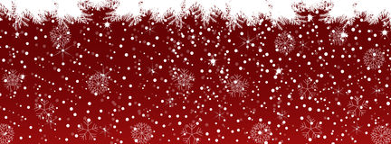 Red Christmas background Timeline Cover Stock Photo