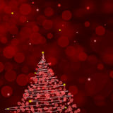 Red Christmas background . Stock Photos