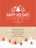 Red Christmas Background With Typography, Lettering. Merry Christmas Background With Typography, Lettering. Red greeting card Stock Image