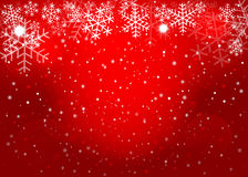 Red Christmas background. Vector EPS10. Stock Photography