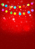 Red Christmas background. Vector EPS 10. Stock Photo