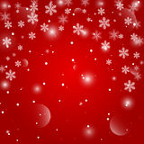 Red Christmas background. Vector EPS10. Royalty Free Stock Photos